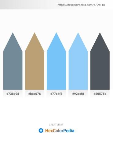 Palette image download - Light Slate Gray – Dark Khaki – Light Sky Blue – Light Sky Blue – Dark Slate Gray