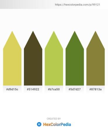 Palette image download - Burlywood – Dark Olive Green – Yellow Green – Olive Drab – Dark Olive Green