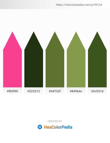 Palette image download - Deep Pink – Dark Olive Green – Dark Olive Green – Dark Khaki – Dark Olive Green