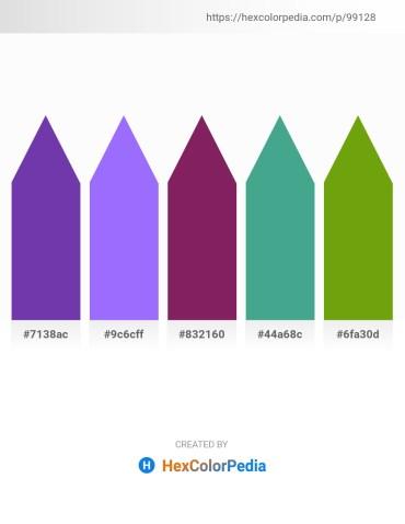 Palette image download - Dark Orchid – Medium Slate Blue – Dim Gray – Medium Sea Green – Olive