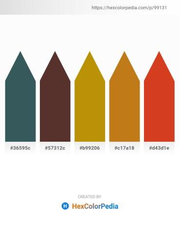 Palette image download - Dark Slate Gray – Dark Olive Green – Dark Goldenrod – Chocolate – Chocolate