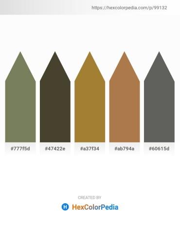 Palette image download - Dim Gray – Dark Olive Green – Dark Olive Green – Peru – Dim Gray