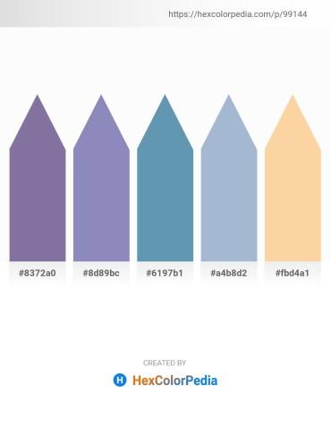 Palette image download - Light Slate Gray – Light Slate Gray – Cadet Blue – Light Steel Blue – Navajo White