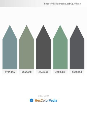 Palette image download - Light Slate Gray – Dark Sea Green – Dim Gray – Dark Sea Green – Slate Gray