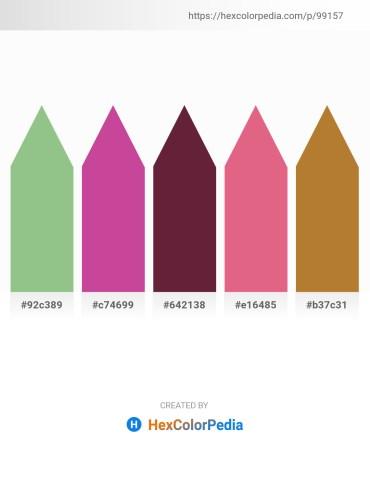 Palette image download - Dark Sea Green – Pale Violet Red – Brown – Pale Violet Red – Peru
