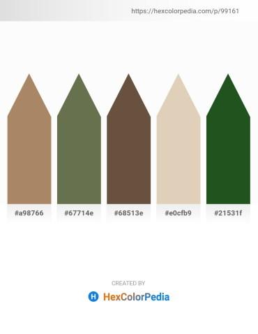 Palette image download - Rosy Brown – Dark Olive Green – Dark Slate Gray – Tan – Dark Olive Green