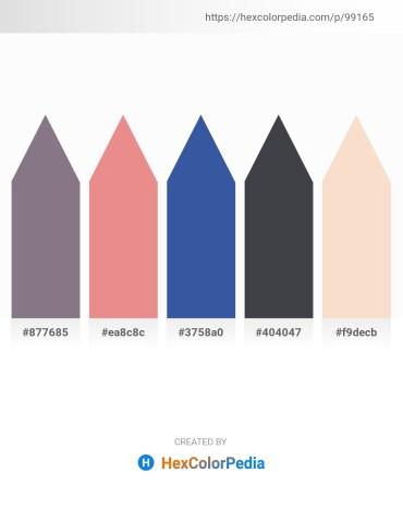 Palette image download - Gray – Dark Salmon – Steel Blue – Dark Slate Gray – Antique White