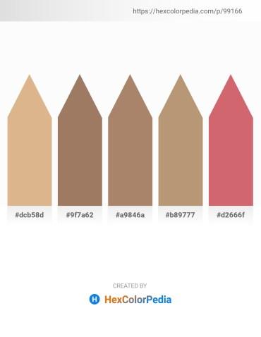 Palette image download - Burlywood – Rosy Brown – Rosy Brown – Rosy Brown – Indian Red