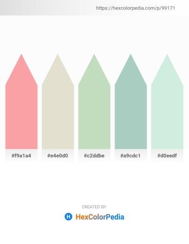 Palette image download - Light Pink – Gainsboro – Dark Sea Green – Dark Sea Green – Powder Blue