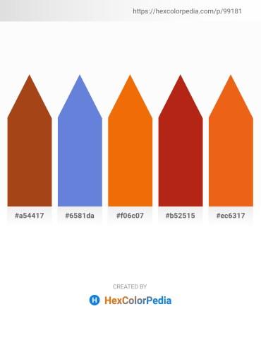 Palette image download - Saddle Brown – Slate Blue – Dark Orange – Firebrick – Chocolate