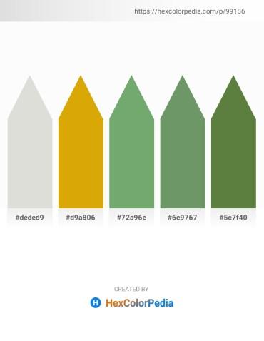 Palette image download - Gainsboro – Orange – Dark Sea Green – Dark Sea Green – Dark Olive Green