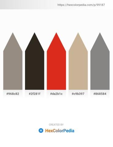 Palette image download - Gray – Black – Crimson – Tan – Gray