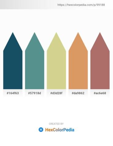 Palette image download - Midnight Blue – Cadet Blue – Tan – Dark Salmon – Rosy Brown
