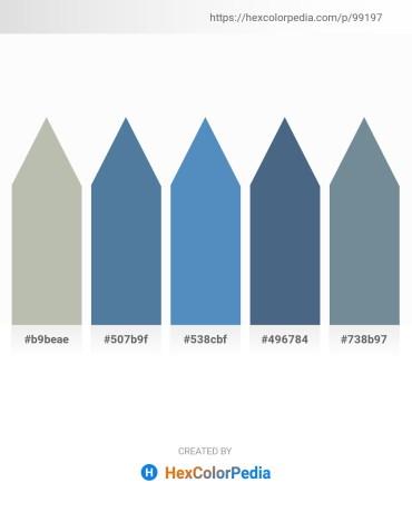 Palette image download - Dark Sea Green – Steel Blue – Steel Blue – Dark Slate Blue – Light Slate Gray