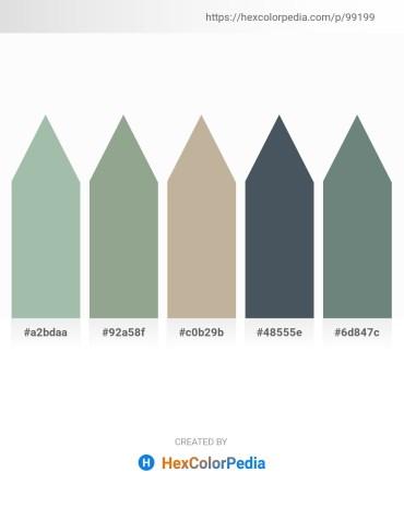 Palette image download - Dark Sea Green – Dark Sea Green – Dim Gray – Dark Slate Gray – Slate Gray