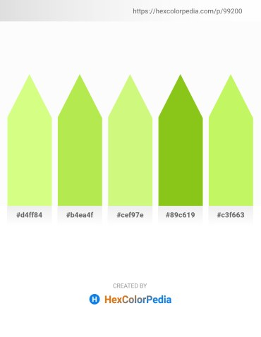 Palette image download - Pale Green – Green Yellow – Khaki – Yellow Green – Green Yellow