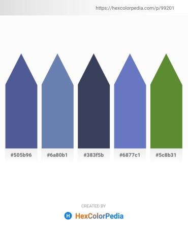 Palette image download - Dark Slate Blue – Peru – Rosy Brown – Steel Blue – Olive Drab