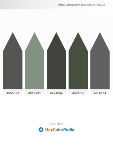 Palette image download - Dim Gray – Dark Sea Green – Dim Gray – Dark Olive Green – Dim Gray