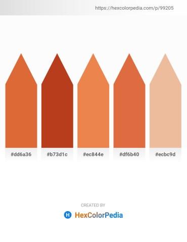 Palette image download - Chocolate – Firebrick – Sandy Brown – Chocolate – Burlywood