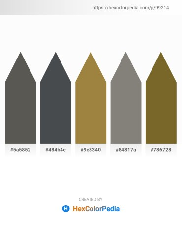 Palette image download - Dim Gray – Dark Slate Gray – Indian Red – Gray – Dark Olive Green