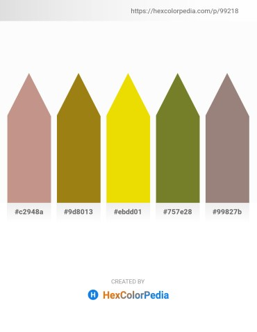 Palette image download - Rosy Brown – Dark Goldenrod – Gold – Olive Drab – Gray