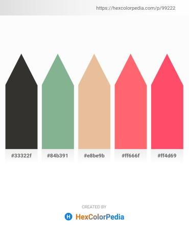 Palette image download - Black – Dark Sea Green – Burlywood – Salmon – Tomato