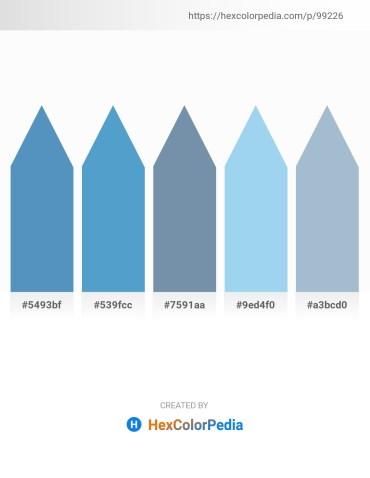 Palette image download - Steel Blue – Steel Blue – Light Slate Gray – Sky Blue – Light Steel Blue