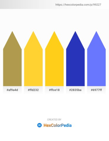 Palette image download - Dark Khaki – Gold – Gold – Royal Blue – Medium Slate Blue