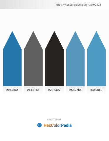 Palette image download - Sea Green – Dim Gray – Black – Steel Blue – Steel Blue