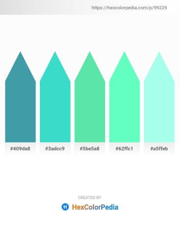 Palette image download - Steel Blue – Turquoise – Turquoise – Aquamarine – Aquamarine