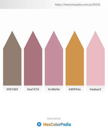 Palette image download - Gray – Rosy Brown – Rosy Brown – Peru – Plum
