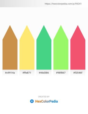 Palette image download - Peru – Navajo White – Medium Sea Green – Pale Green – Salmon