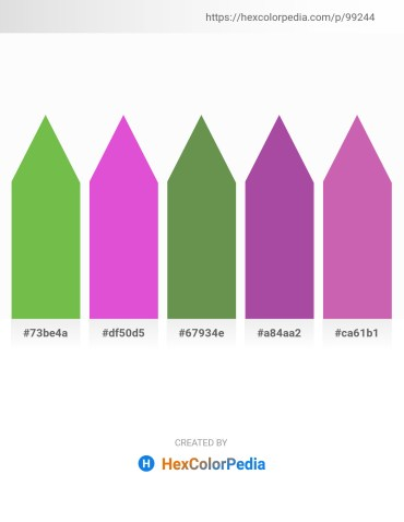 Palette image download - Yellow Green – Orchid – Dark Olive Green – Light Steel Blue – Orchid