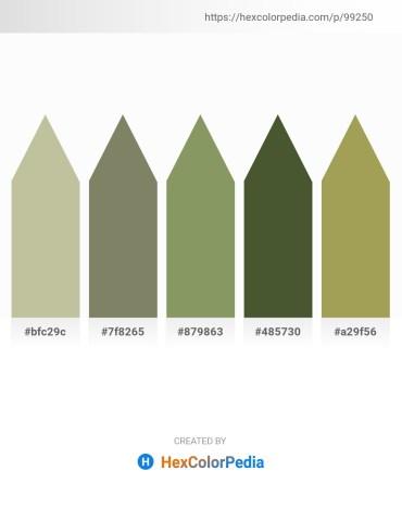 Palette image download - Dark Sea Green – Gray – Dark Sea Green – Dark Olive Green – Dark Khaki