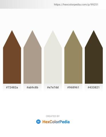 Palette image download - Sienna – Rosy Brown – Gainsboro – Dark Khaki – Dark Sea Green