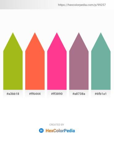 Palette image download - Light Steel Blue – Tomato – Deep Pink – Rosy Brown – Cadet Blue