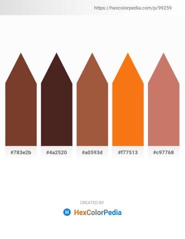 Palette image download - Sienna – Light Coral – Sienna – Dark Orange – Indian Red