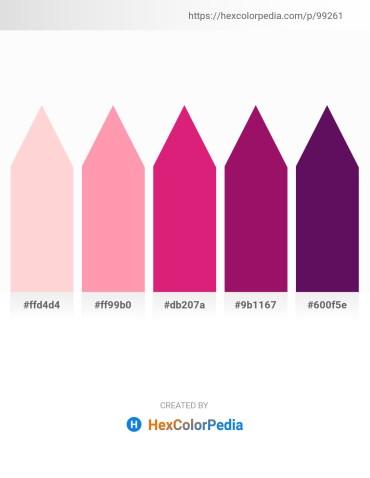 Palette image download - Misty Rose – Light Pink – Medium Violet Red – Medium Violet Red – Purple