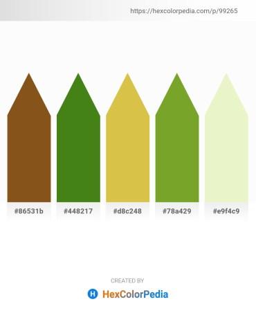 Palette image download - Saddle Brown – Forest Green – Goldenrod – Olive Drab – Pale Goldenrod