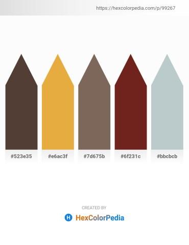 Palette image download - Dark Slate Blue – Goldenrod – Dim Gray – Brown – Light Steel Blue