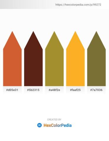 Palette image download - Peru – Saddle Brown – Peru – Orange – Dark Olive Green