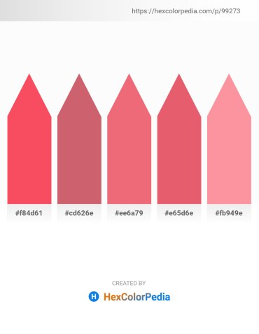 Palette image download - Tomato – Indian Red – Light Coral – Light Coral – Light Salmon