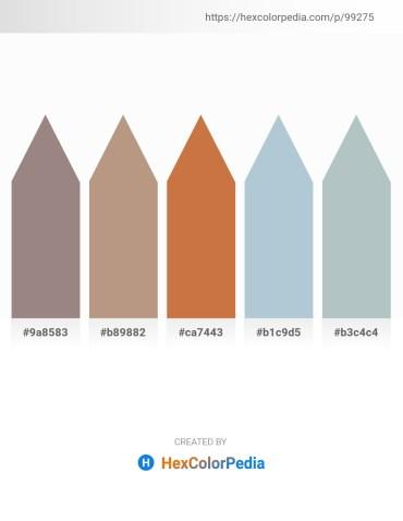Palette image download - Gray – Rosy Brown – Peru – Light Steel Blue – Dark Sea Green