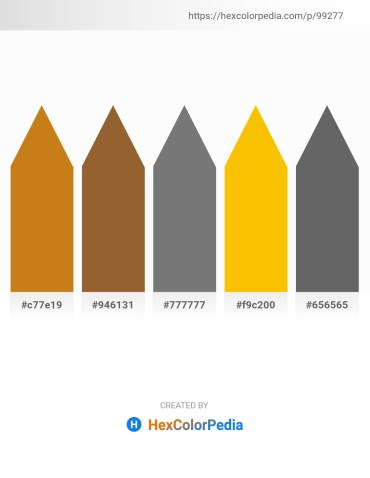 Palette image download - Chocolate – Sienna – Gray – Gold – Dim Gray