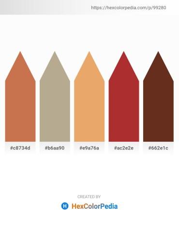 Palette image download - Peru – Sienna – Dark Salmon – Brown – Saddle Brown