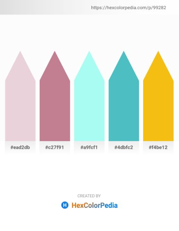 Palette image download - Thistle – Rosy Brown – Aquamarine – Medium Turquoise – Gold