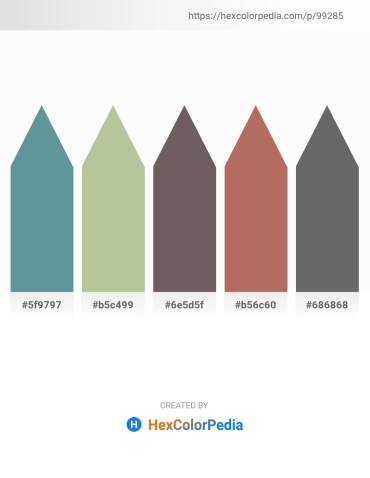 Palette image download - Cadet Blue – Dark Sea Green – Dim Gray – Indian Red – Dim Gray
