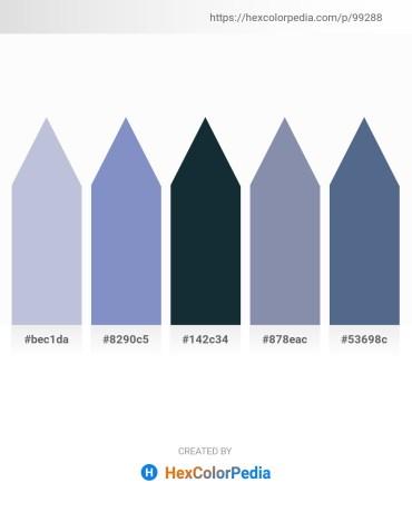Palette image download - Light Steel Blue – Steel Blue – Dark Slate Gray – Light Slate Gray – Slate Gray
