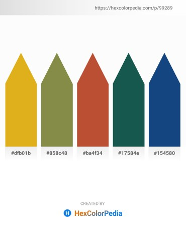 Palette image download - Goldenrod – Dark Olive Green – Sienna – Indian Red – Midnight Blue
