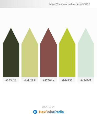 Palette image download - Dark Olive Green – Tan – Sienna – Yellow Green – Dark Salmon